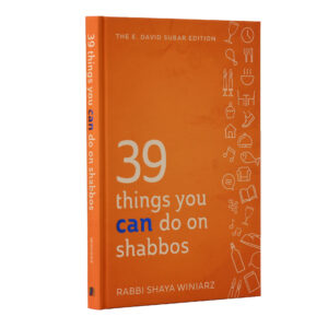 THINGS YOU CAN DO ON SHABBOS