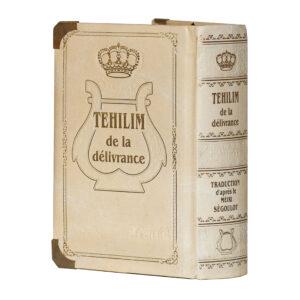 TEHILIM PF BEIGE H/F LETTRES XL DELIבז ק