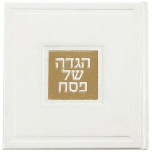 הגדה 15X15 אשכנזי לבן