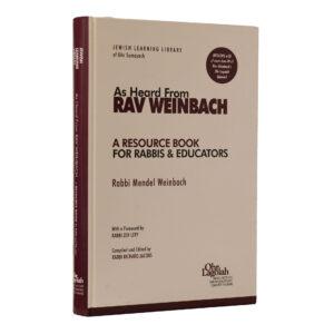 AS HEARD R WEINBACH